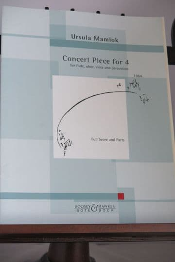 Mamlok U - Concert Pieces for 4 (Flute Oboe Viola & Percussion)